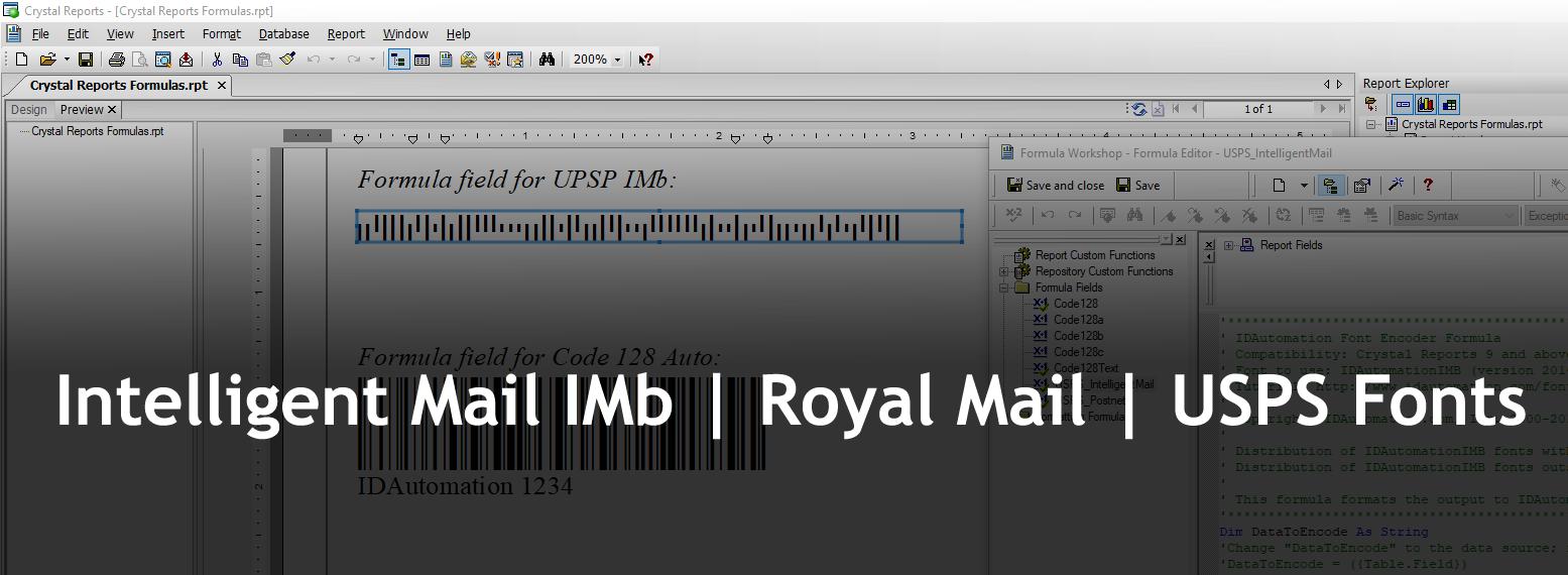 POSTNET, PLANET, FIM and RM4SCC Bar Code Font Download