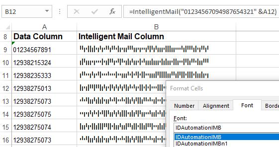 Intelligent Mail and Postnet Fonts at PostnetFonts com
